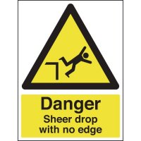 Danger Sheer Drop With No Edge Sign