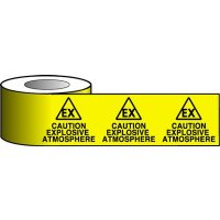 Barrier Warning Tapes - Caution Explosive Atmosphere