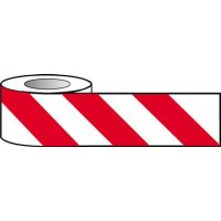 Barrier Warning Tape - Diagonal Stripes