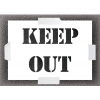 Reusable Stencil - Keep Out
