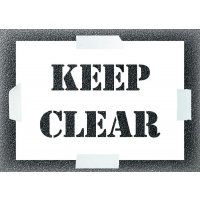 Reusable Stencil - Keep Clear