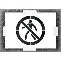 Reusable Stencil - No Pedestrian Symbol