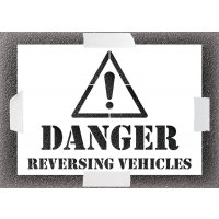 Reusable Stencil - Danger Reversing Vehicle