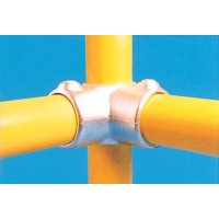 Modular Barrier - Corner with Through Centre Tube Galvanised Clamp