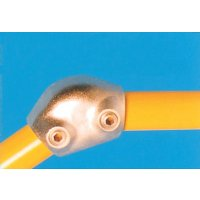 Modular Barrier - Variable Elbow 15-60° Galvanised Clamp