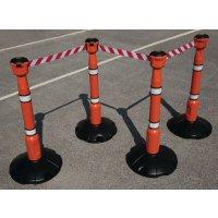 Skipper™ Retractable Barrier and Cone Kits - Skipper™ Posts