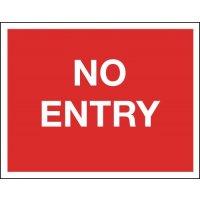 No Entry - Class 1 Reflective Sign