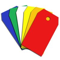 PVC Colour Coded Tags - Chamfered