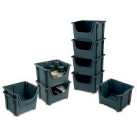5-Pack Stackable Bin Containers