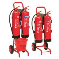 Double Fire Extinguisher Trolleys