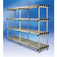 Premier Plastic Shelving - 4 Shelf Unit