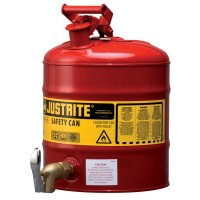 Justrite Flammable Liquid Laboratory Can With Spout
