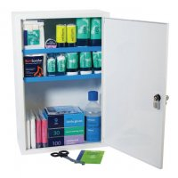 Stocked Metal First Aid Cabinets