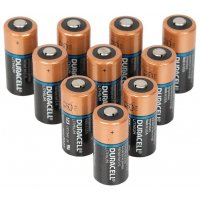 Pack of 10 Duracell Lithium batteries