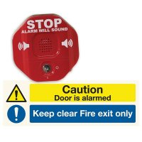 Door Exit Stopper and Sign Kits