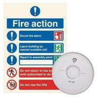 General Purpose Smoke Alarm & Sign Kit