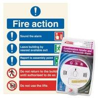 Carbon Monoxide Detector & Sign Kit