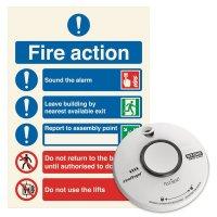 Battery Operated Smoke Alarm & Sign Kit