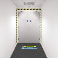 Safety Zone Wall Marking Kits - Batteries Charging