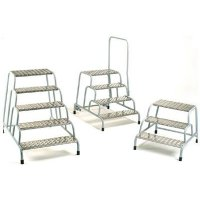 Industrial Machine Steps with Handrails