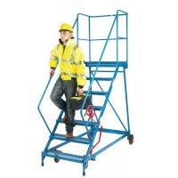 Wide Easy-Steer Mobile Steps