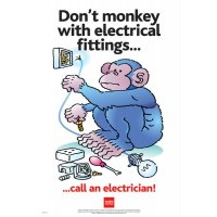 Don't Monkey With Electrical Fittings RoSPA Poster