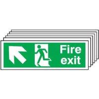 6-Pack Running Man/Left Diagonal Up Arrow Signs