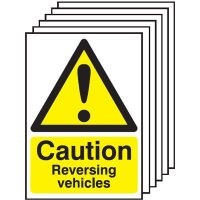 6-Pack Caution Reversing Vehicles Signs