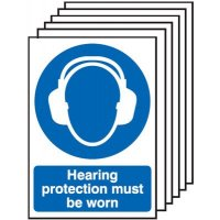 6-Pack Hearing Protection Must Be Worn Signs