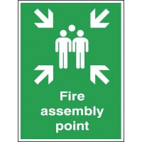 Fire Assembly Outdoor Aluminium Sign