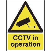 CCTV In Operation Outdoor Aluminium Signs