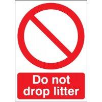 Do Not Drop Litter Signs