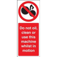 Do Not Oil/Clean/Use This Machine Magnetic Sign
