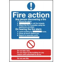 Fire Action Sign (Standard)