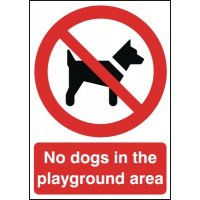 No Dogs In Playground Area Signs