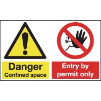 Danger Confined Space & Entry By Permit Only