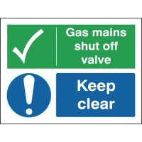 Gas Mains Shut Off Valve Keep Clear Signs