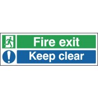 Fire Exit Keep Clear (Man & Mandatory Symbol) Signs