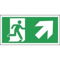 Running Man & Arrow Right & Up Diagonal (Symbol) Signs