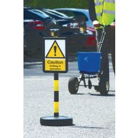 Temporary Winter Car Park Signs - Post