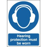 Hearing Protection Must Be Worn Signs