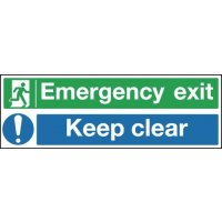 Emergency Exit Keep Clear Multi-Message Signs