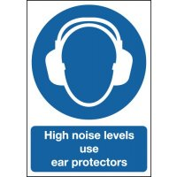 High Noise Levels Use Ear Protectors Sign