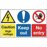 Caution High Voltage/Keep Out/No Entry Signs