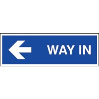 Way In (Arrow Left) Sign