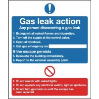 Gas Leak Action... Do Not Multi-Message Signs