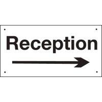 Reception (Arrow Right) Vandal-Resistant Sign