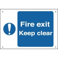 Fire Exit Keep Clear - Vandal-Resistant Sign
