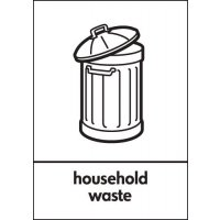 Household Waste - WRAP Recycling Signs