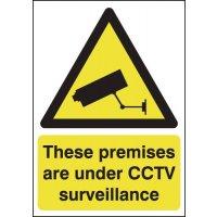 These Premises Are Under CCTV Surveillance Window Signs